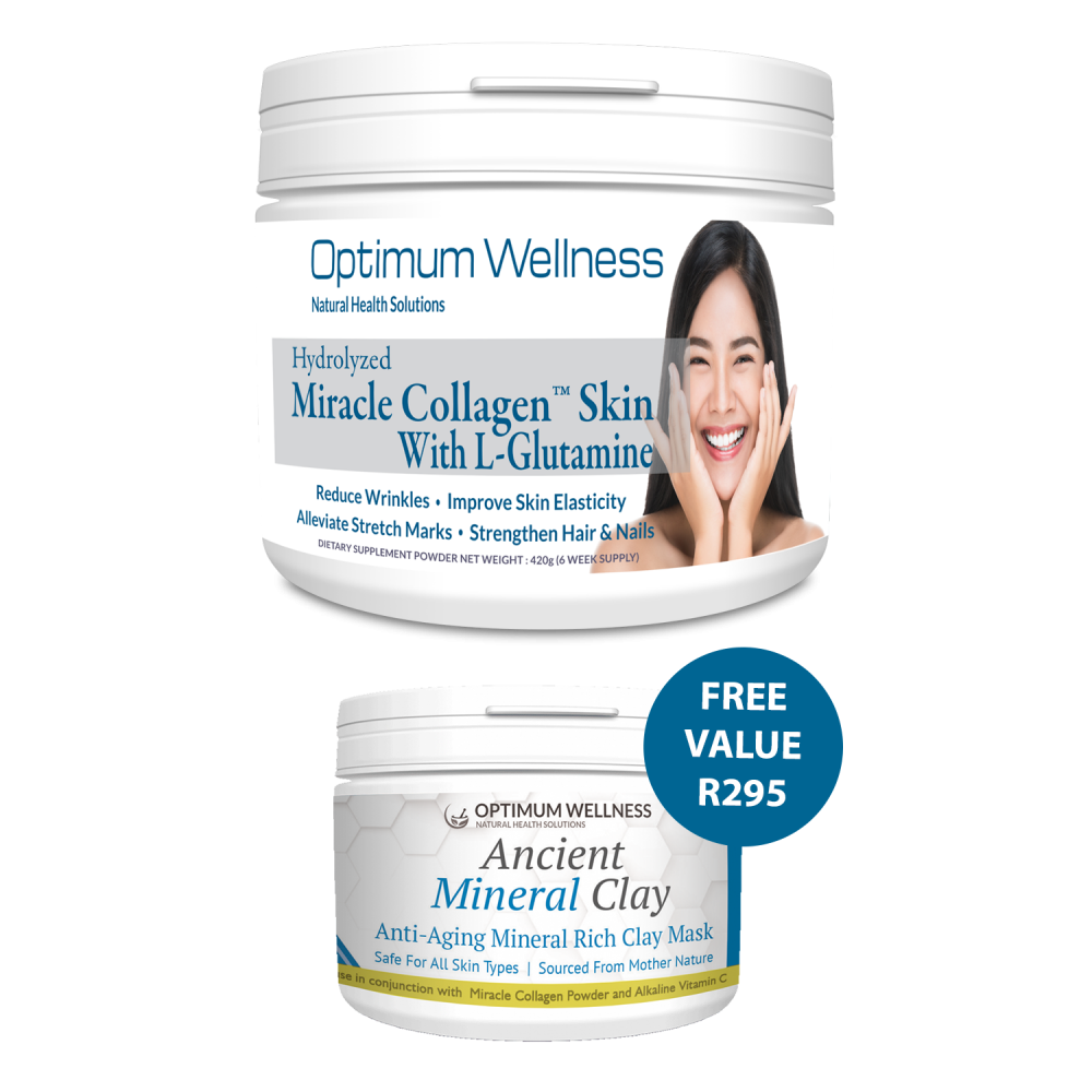Miracle Collagen™ with L-Glutamine SKIN + FREE Mineral Clay Mask